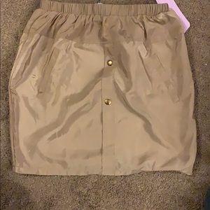 camel shell suit mini skirt